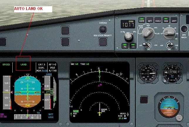 Autoland no controle do cockpit