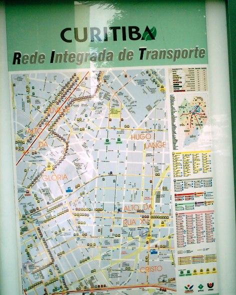 mapa de pontos de ônibus
