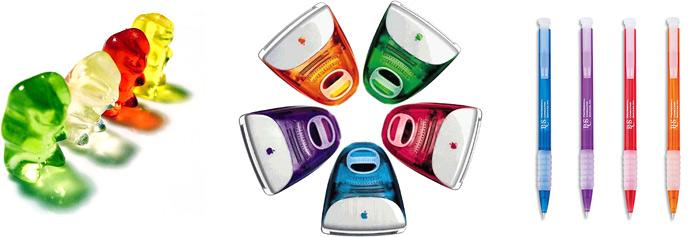 Evolução da transparência do iMac