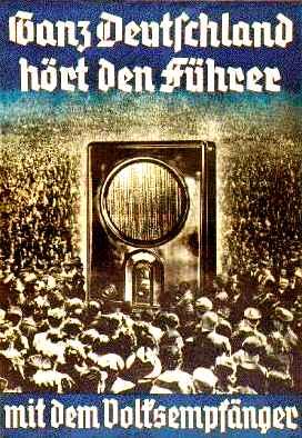 Cartaz vendendo Rádio Nazista